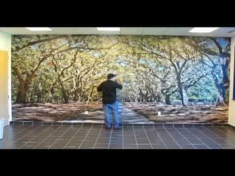 ORACAL Indoor Wall Mural Installation
