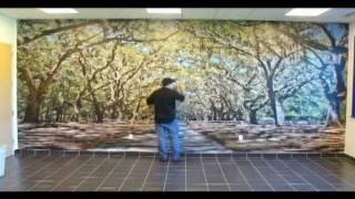 ORACAL Indoor Wall Mural Installation
