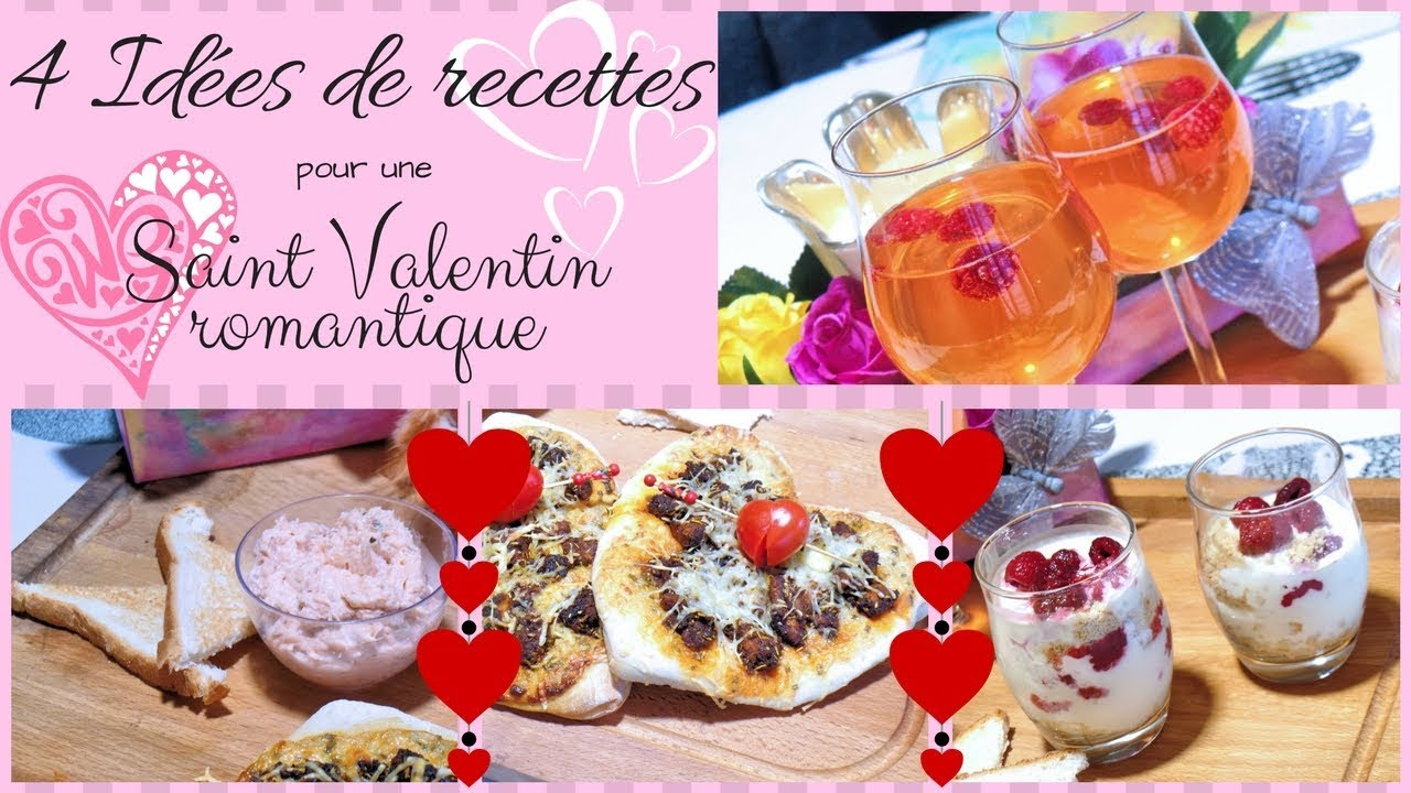 4 id es de recettes pour un repas de saint valentin romantique youtube. Black Bedroom Furniture Sets. Home Design Ideas