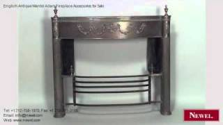 English Antique Mantel Adam Fireplace Accessories For Sale