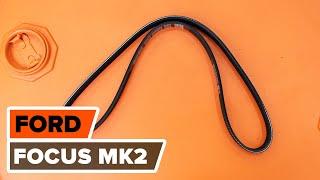 Ako vymeniť ozubený klinový remeň na FORD FOCUS MK2 Sedan [NÁVOD AUTODOC]