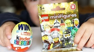 Lego MiniFigures Kinder Surprise Egg - Unboxing Video | Arcadius Kul