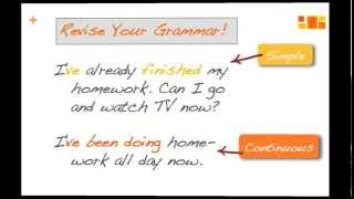 Present Perfect Simple or Continuous (an exercise video)