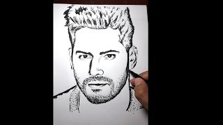 Varun dhawan face drawing in black sketch only || art#19
