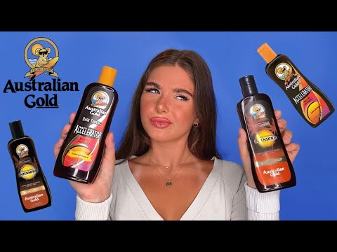 AUSTRALIAN GOLD TANNING LOTION REVIEW 😱 | REVIEWING THE BEST TANNING LOTIONS TO GET TANNED FAST