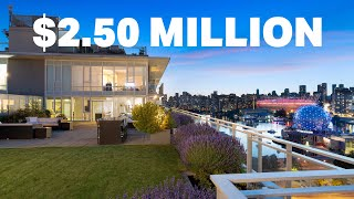 Sub-penthouse in False Creek | $2.5 Million CAD | Epic patio and views