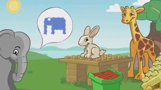 Мультик для детей. Игрушки для детей. LEGO Лего - Животные в парку