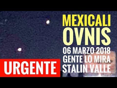 OVNIS en Mexicali; Decenas de personas los mirarlos en calles: STALIN VALLE OZUNA