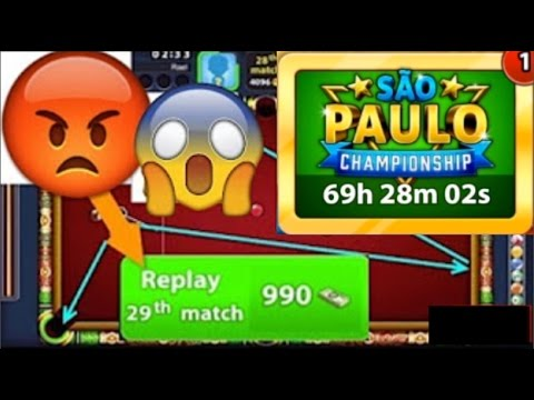 8 Ball Pool - 1V1 INSANE 10th Match On SAO PAULO CHAMPIONSHIP - But Why 😡 990 Cash