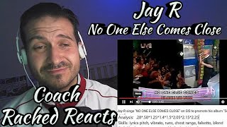 Teary Vocal Coach Reaction + Analysis (+ RnB Monster) - Jay R - No One Else Comes Close