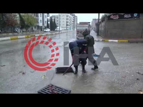 Adıyaman'da şiddetli yağış sonrası cadde ve sokaklar göle döndü
