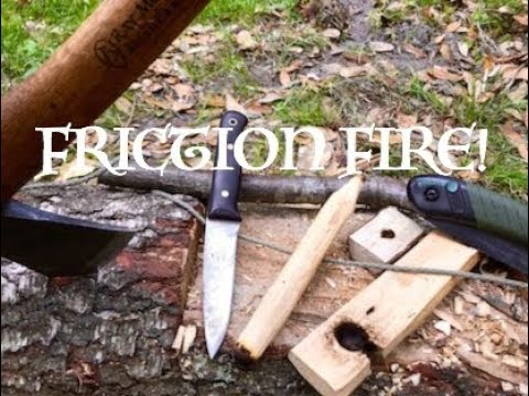 On Site Bow Drill, Friction Fire in Florida!