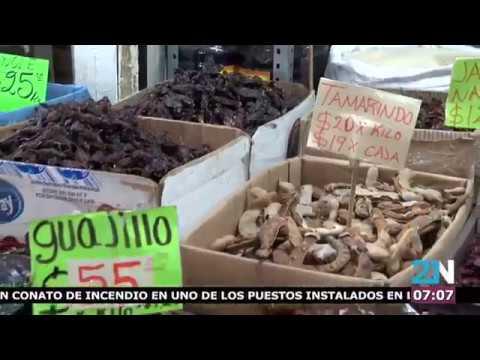 Chiles Secos Y Especies En La Central De Abastos
