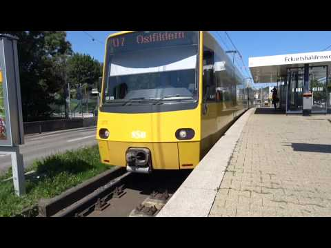 A detailed city tour of Stuttgart, Baden-Württemberg, Germany - August, 2017