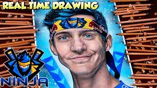 How To Draw Ninja Fortnite Battle Royale - Step By Step Tutorial Portrait Realistic Drawing