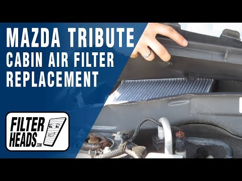 How to Replace Cabin Air Filter Mazda Tribute - YouTube
