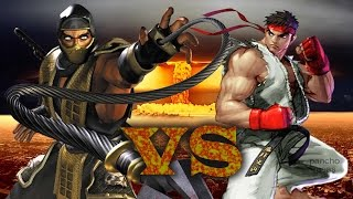 scorpion vs ryu batallas de rap
