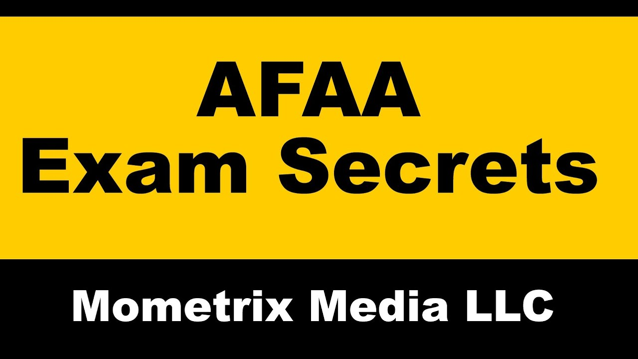 Afaa Exam Study Guide Assisting Touch Youtube