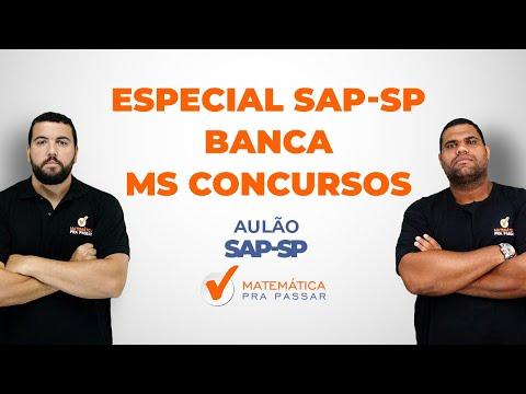 Matemática - Especial SAP - SP - Banca MS CONCURSOS