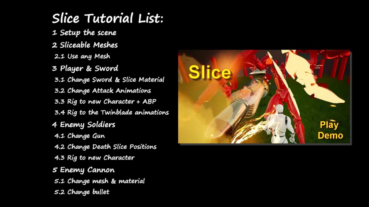 testing SLICE and CUT meshes and skeletal meshes - Unreal Engine Forums