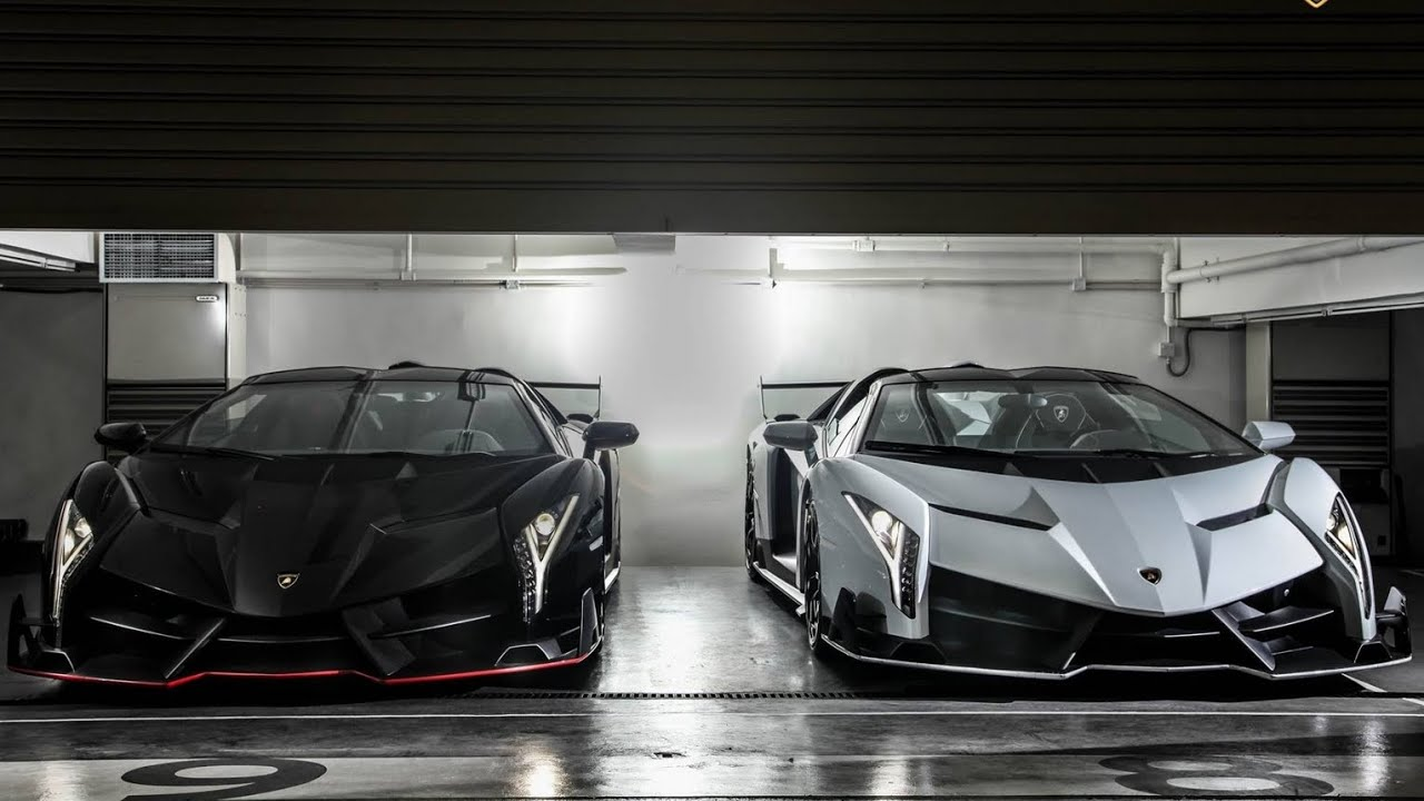 Lamborghini Veneno Roadsters In Hongkong Garage Youtube