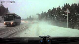 ДТП 18.11.2012 а/д Красноярск-Енисейск с замедленнкой