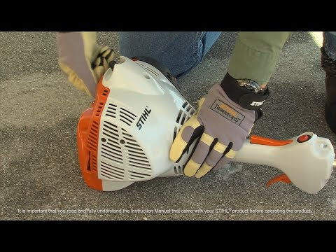 STIHL KM 56  KombiMotor - How to Start