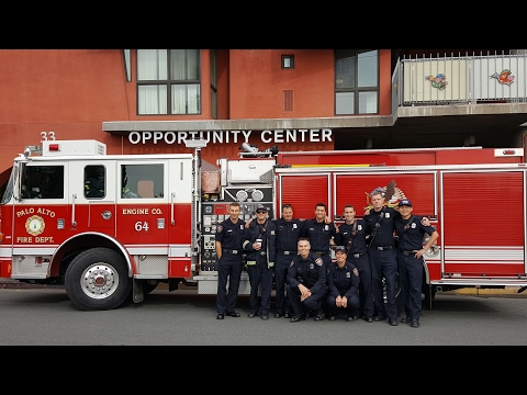Palo Alto Fire Department Spreads the Love for Valentine's Day