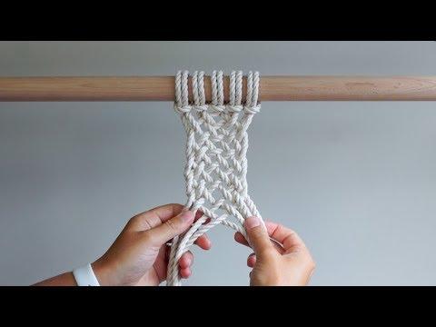 DIY Macrame Tutorial - Continuous Weave Method 2 (Large Continuous Weave)