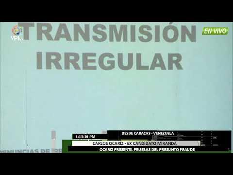 Venezuela – Ocariz presenta pruebas del fraude electoral -VPI