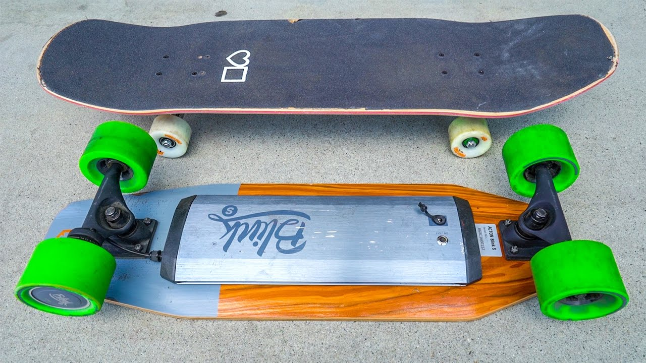 CRUISER BOARD VS ELECTRIC SKATEBOARD!!!  YouTube