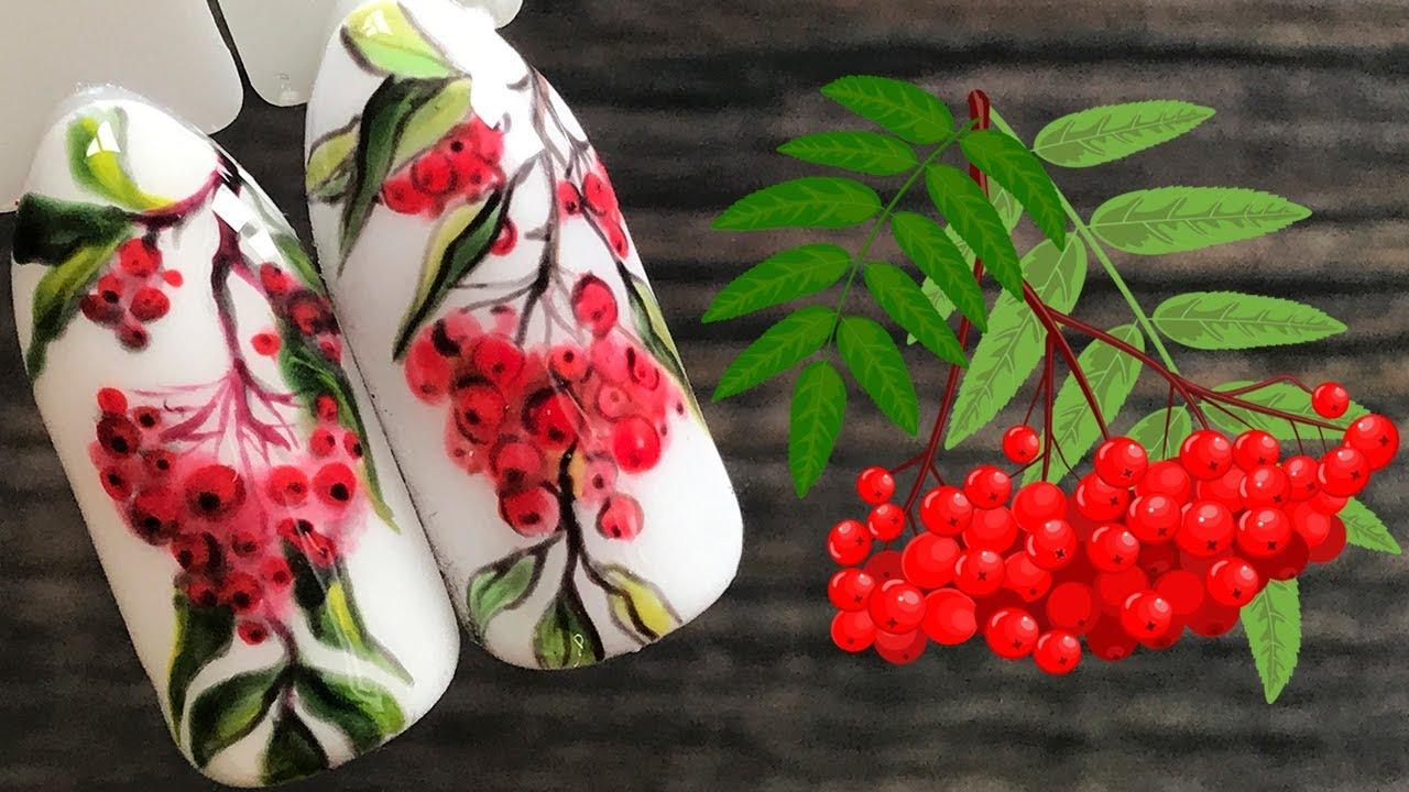 фото ягодный маникюр