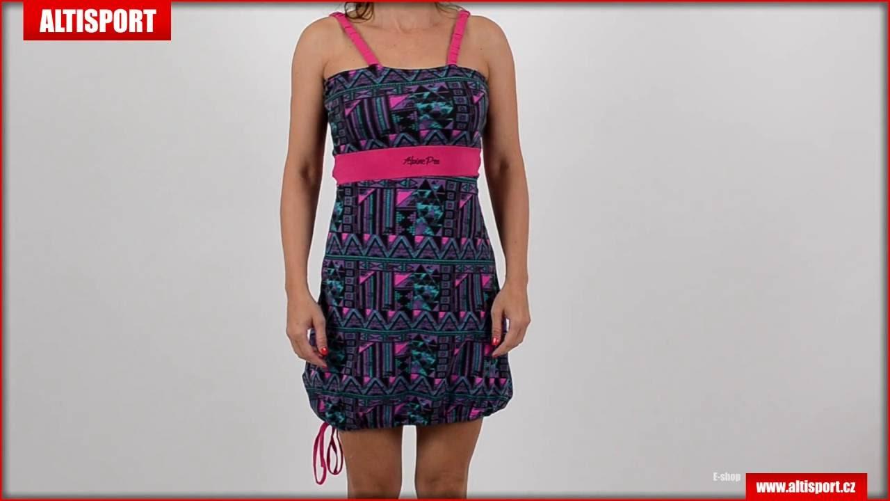 6bc1ce039ec5 dámské šaty alpine pro chico 2 černá - YouTube