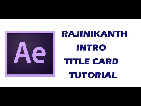 After Effects | Rajinikanth intro title...
