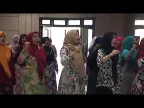 Padus PC Fatayat Jombang Latihan Untuk Harlah Muslimat 73 Di GBK 2019