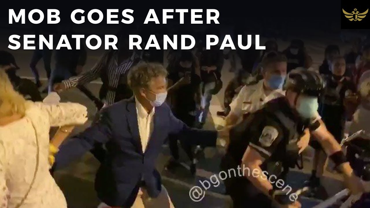 Mob goes after Senator Rand Paul & the media provides cover for mob
