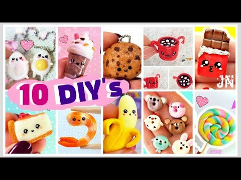ТОП 10 DIY's ЕДА И НАПИТКИ Для Кукол и Брелки Своими Руками Food & Drinks - Видео онлайн