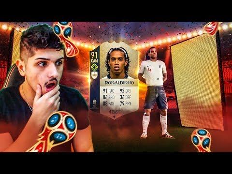 FIFA 18 COPA DO MUNDO PACK OPENING  RONALDINHO GAÚCHO NO PACK!
