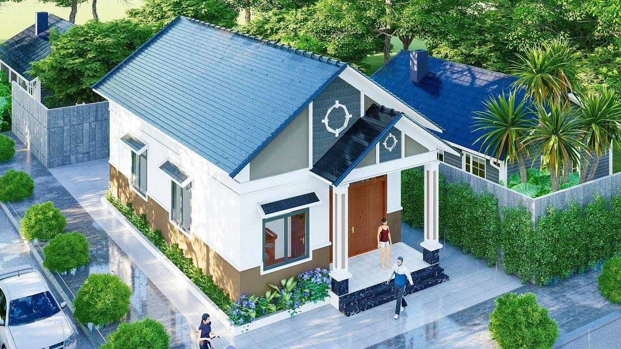 Hồ sơ bản vẽ nhà vườn mái thái đẹp mê ly thiết kế tại Hà Tĩnh
