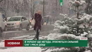 В Україну іде негода: очікуються сильний сніг і рясні дощі
