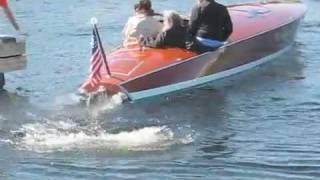 Jet  V12 Liberty Engines, BPM, High Speed Wood Race Riva boats, Muskoka
