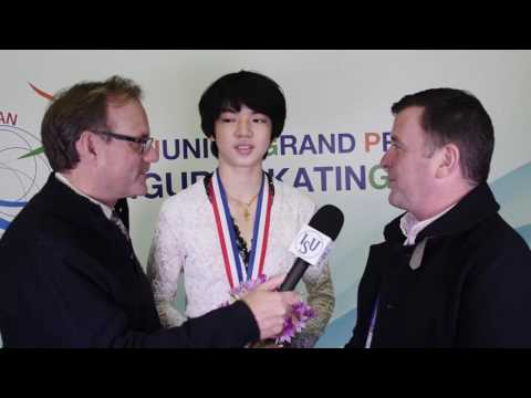 Interview with Jun Hwan Cha and Olympic Coach Brian Orser After Winning JGP Yokohoma