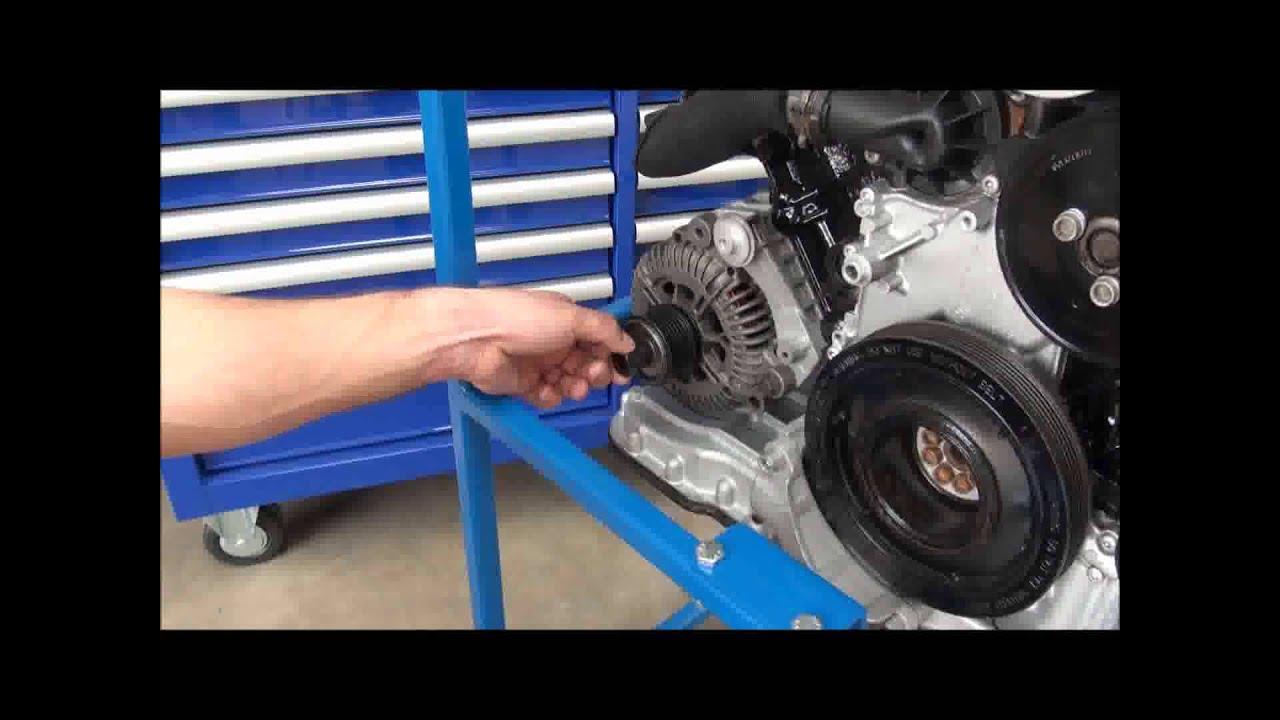 Extractor : Instalador de polea del alternador AST4955A - YouTube