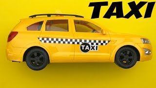 TAXI TOY VIDEO FOR KIDS CAR TOYS REVIEW