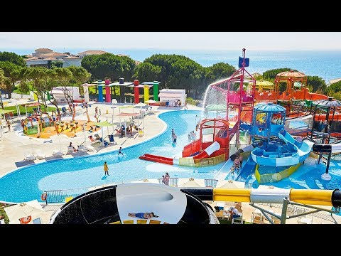 Mega Resort with Aqua Park & Water slides in Greece | Riviera Olympia