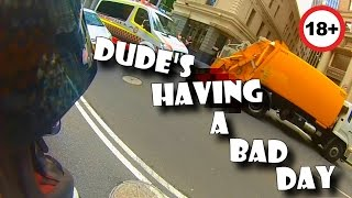 Ultimate Pedestrian FAIL Compilation - Dude crushed by garbage truck