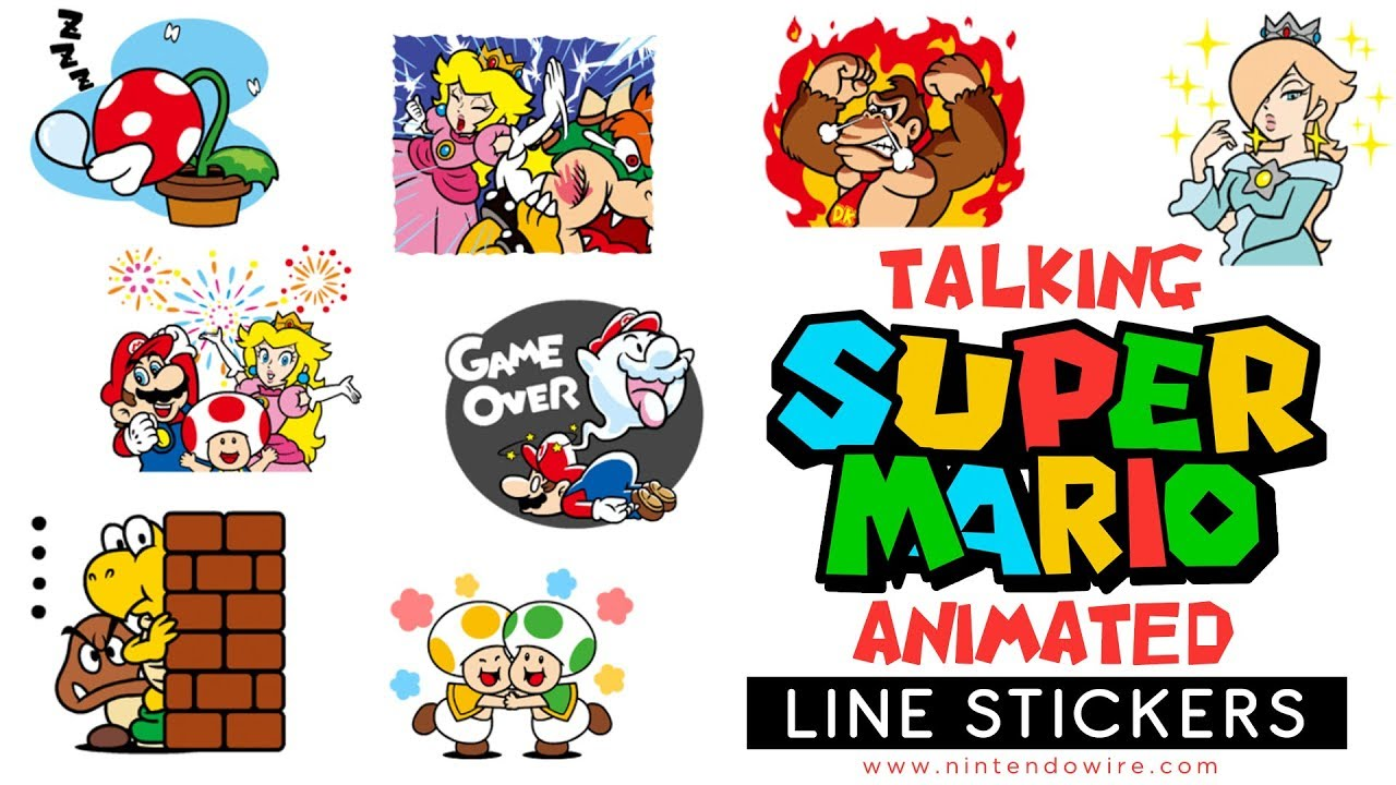 Even more super mario animated stickers line sticker showcase