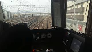 JR西日本嵯峨野線221系列車京都至丹波口前面展望