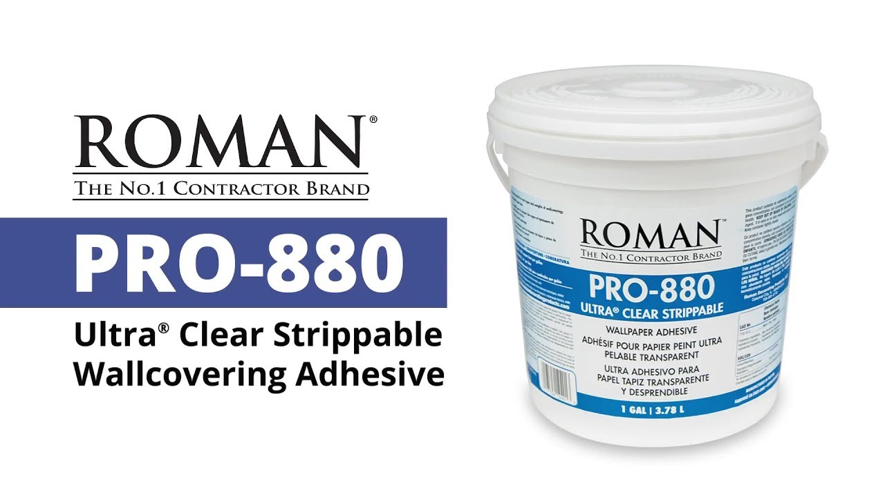 Roman pro 880 ultra clear strippable wallcovering adhesive - Roman pro 880 ...