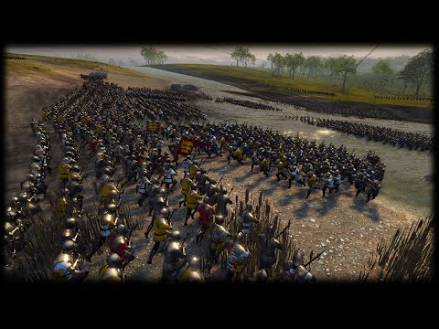 HUNDRED YEARS WAR CLASH OF KINGS BATTLE - Medieval Kingdoms Total War 1212 AD Mod Gameplay